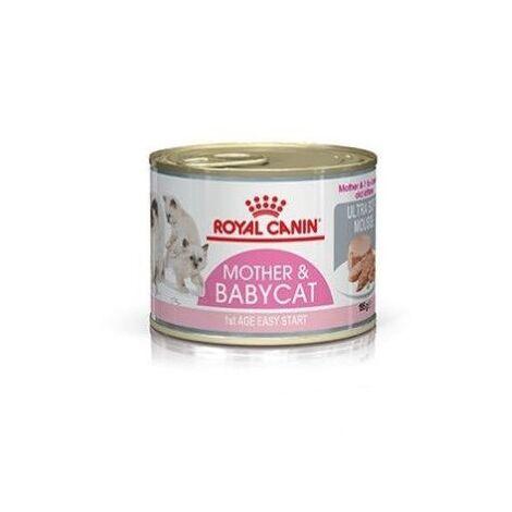 Lata ROYAL CANIN MOTHER & BABYCAT ULTRA SOFT MOUSSE 195g para gatitos