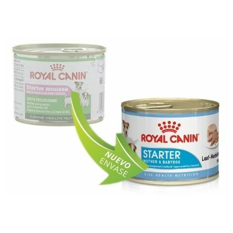 Lata ROYAL CANIN STARTER MOUSSE MOTHER AND BABYDOG 195g (Hasta 2 meses)