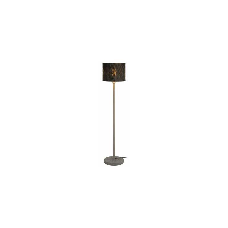 ADEGAN MANILA SL Stehleuchte,PE Rattan anthrazit + SST 304+ Granit G654, E27, - CERTEO