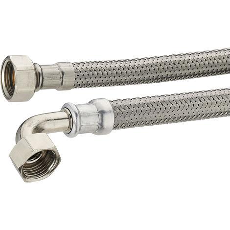 Manguera flexible de acero para agua de 1 metro y 1 pulgada para uso dom/éstico