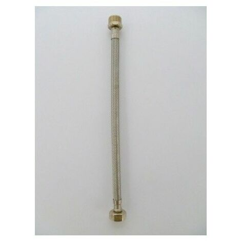 "Latiguillo Fontan Mm 1/2-1/2""-30Cm Inox/Caucho S M"
