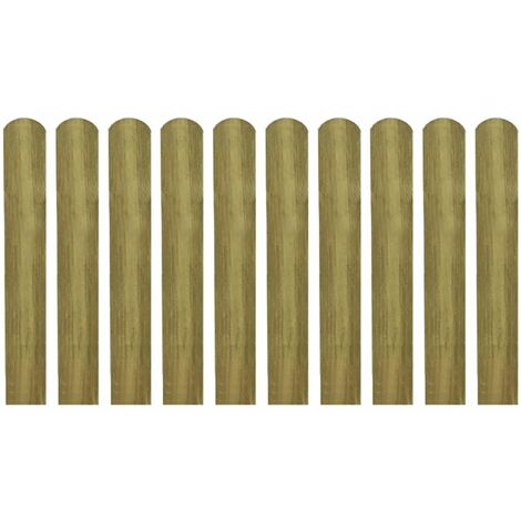 Latte impregnee de cloture 10 pcs 60 cm Bois