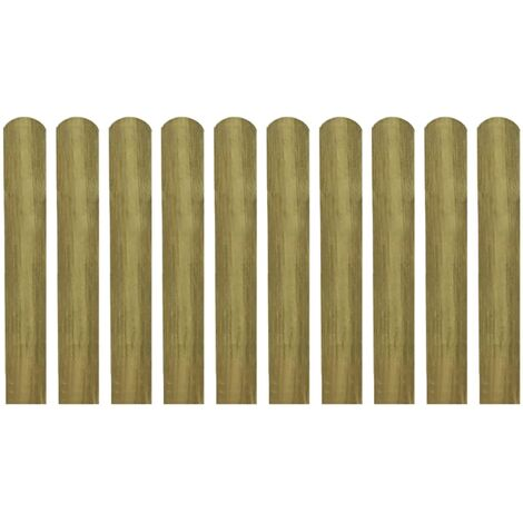 Latte impregnee de cloture 20 pcs 60 cm Bois