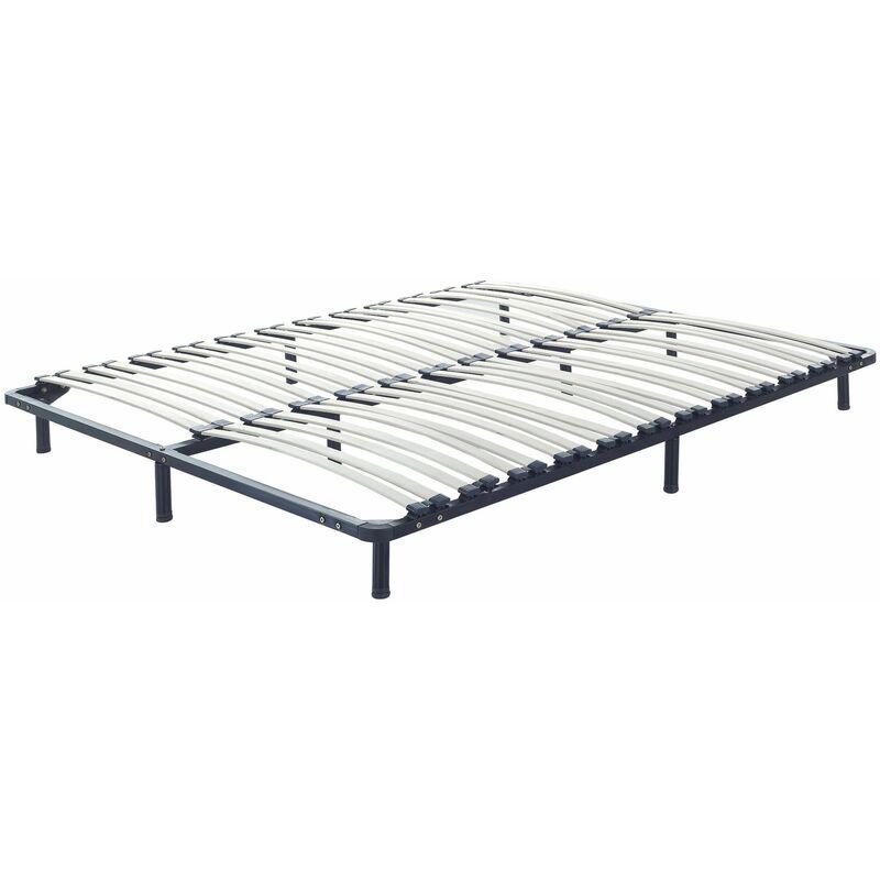 Beliani - Lattenrost Pappelholz Metall 180 x 200 cm 48 Federleisten für Doppelbett