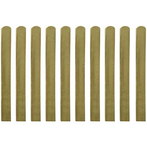 Lattes imprégnées de clôture 10 pcs Bois 100 cm