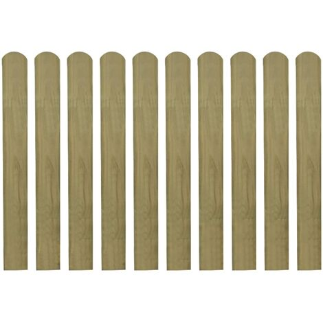 Lattes imprégnées de clôture 30 pcs Bois 80 cm