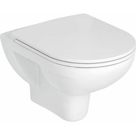 Laufen 8669510000001 Toilette mural Pro Pack, sans rebord, avec abattant, blanc
