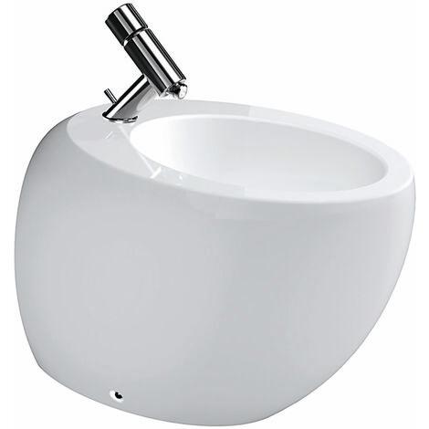 Laufen Alessi 1 Stand-Bidet, 1 trou pour robinet, 390x585, avec kit de fixation 891757, blanc LCC - H8329714003041