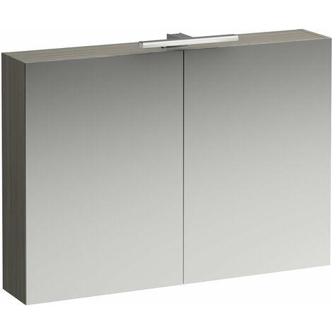 Laufen Armoire de toilette bas coulissante 1000 mm, 2 portes, élément lumineux LED, Coloris: Lumière d'orme - H4028521102621