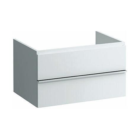 Laufen Caisson à tiroirs, 2 tiroirs sans siphon, 450x790x520, Coloris: Décor chêne anthracite - H4052240755481