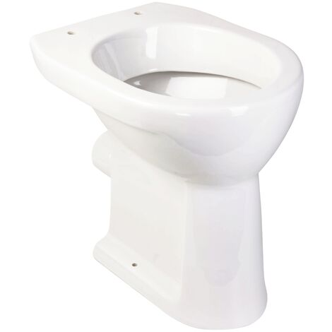 Laufen - Erhöhtes Stand-WC als Flachspüler mit waagerechtem Abgang und einer Erhöhung von +6 cm - H8259560000001