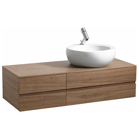 Laufen IL BAGNO ALESSI One Vanity unit, recortado a la derecha, 332x1200x500, para lavabo 818971, color: Lacado blanco - H4241220976311
