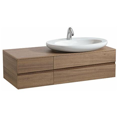 Laufen IL BAGNO ALESSI One Vanity unit, recortado a la derecha, 332x1200x500, para lavabo 818972, color: Noce Canaletto - H4241320976301