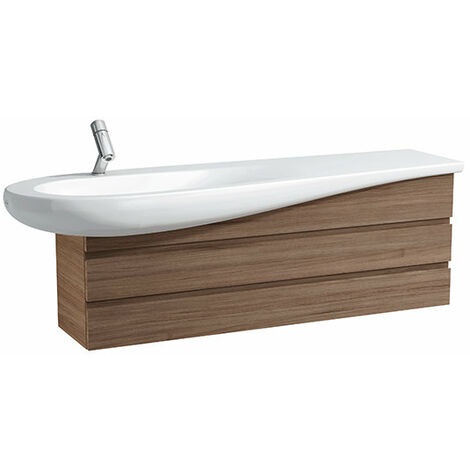 Laufen IL BAGNO ALESSI One Waschtischunterschrank für Waschtisch 814971, Ablage rechts, 490x1350x322, Farbe: Weiß lackiert - H4243600976311