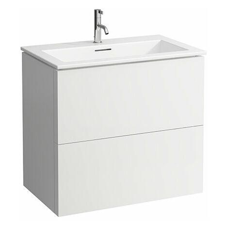 Laufen Kartell Kombipack, combinación de lavabo y base de lavabo con 2 cajones, 800x500, color: gris pizarra - H8603356421041