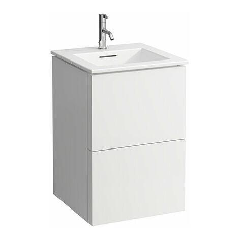 Laufen Kartell Kombipack, combinación de lavabo y subestructura de lavabo con 2 cajones, 500x500, color: gris pizarra - H8603316421041