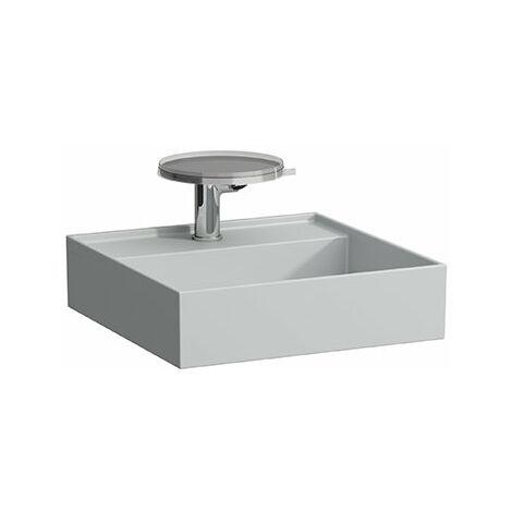 Laufen Kartell Lave-mains Kartell, à encastrer, 2 trous pour robinet, sans trop-plein, 460x460, Coloris: Gris mat - H8153317598151