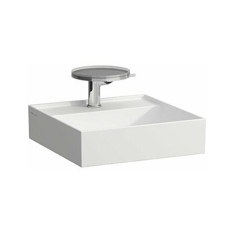 Laufen Kartell Lave-mains Kartell, à encastrer, 2 trous pour robinet, sans trop-plein, 460x460, Coloris: Neige (blanc mat) - H8153317578151