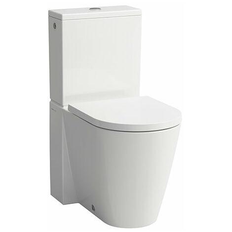 Laufen Kartell Stand-WC für Spülkasten, Tiefspüler, ohne Spülrand, 370x660x430, Farbe: Schwarz glänzend - H8243377160001