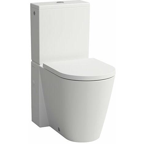 Laufen Kartell Stand-WC für Spülkasten, Tiefspüler, ohne Spülrand, 370x660x430, Farbe: Snow (weiß matt) - H8243377570001