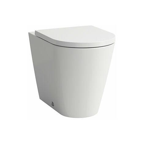 Laufen Kartell Stand-WC Tiefspüler, ohne Spülrand, Abgang waagerecht/senkrecht , 370x560x430, Farbe: Schwarz glänzend - H8233377160001