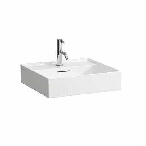 Laufen Kartell Vasque à poser sans trou de robinet, avec trop-plein, murale, 500x460, Coloris: Gris mat - H8163327591091