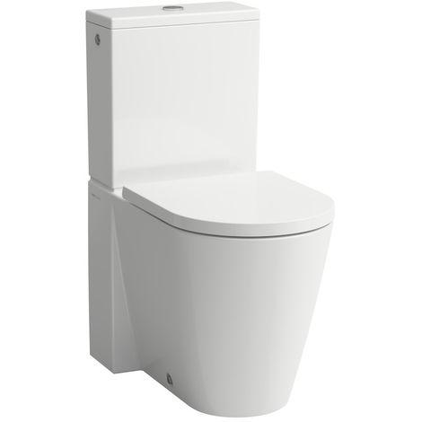 Laufen Kartell WC independiente para cisterna, lavavajillas, sin borde, 370x660x430, color: Blanco con LCC - H8243314000001