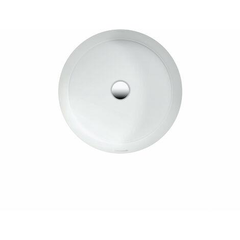 Laufen Living City lavabo à encastrer par le bas, avec trop-plein, sans trou de robinet, 450x455, blanc, face inférieure vitrée - H8134390001551