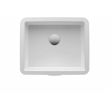 Laufen Living City lavabo à encastrer par le bas, sans trou de robinet, 400x335, blanc - H8124320001091
