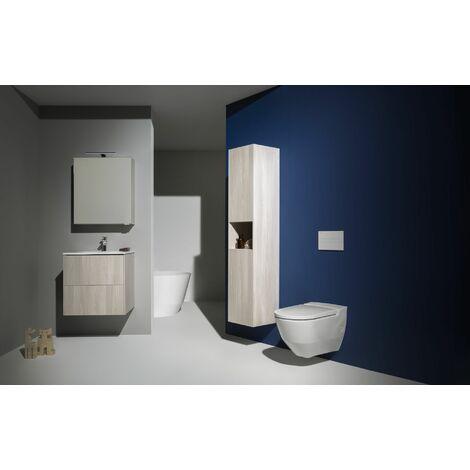 Laufen Navia Cleanet Dusch-WC, Tiefspüler 4,5/3-Liter wandhängend, spülrandlos, 37x58 cm, Farbe: weiss matt - H8206017570001