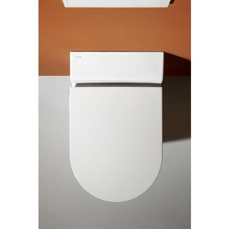 Laufen Navia Cleanet Dusch-WC, Tiefspüler 4,5/3-Liter wandhängend, spülrandlos, 37x58 cm, Farbe: Weiß mit LCC - H8206014000001
