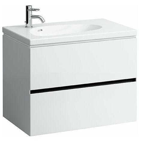 Laufen Palomba Neceser para lavabo 814804, sin zócalo, 2 cajones, 575x785x495, color: Cerezo Vermont oscuro - H4072021802221