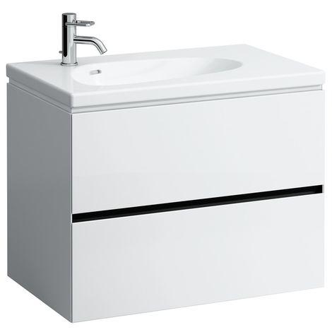 Laufen Palomba Neceser para lavabo 814804, sin zócalo, 2 cajones, 575x785x495, color: gris piedra - H4072021802231