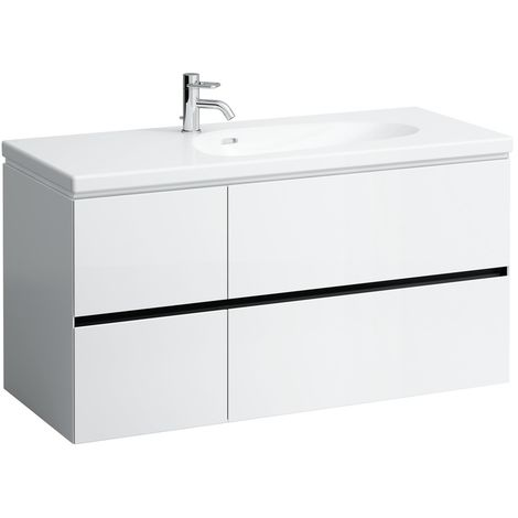 Laufen Palomba Neceser para lavabo 814806, sin zócalo, 4 cajones, 575x1185x495, color: gris piedra - H4073041802231