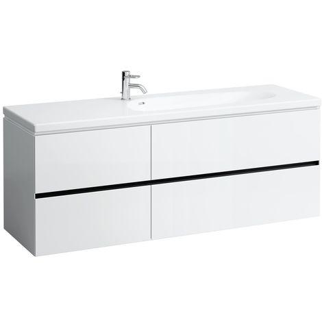 Laufen Palomba Neceser para lavabo 814808, sin zócalo, 4 cajones, 575x1585x495, color: gris piedra - H4074041802231