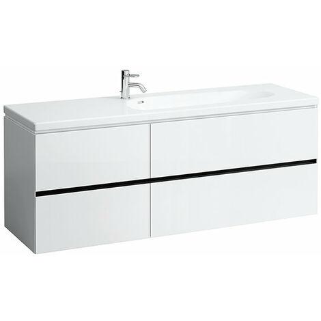 Laufen Palomba Neceser para lavabo 814808, sin zócalo, 4 cajones, 575x1585x495, color: Nieve (blanco mate) - H4074041802201