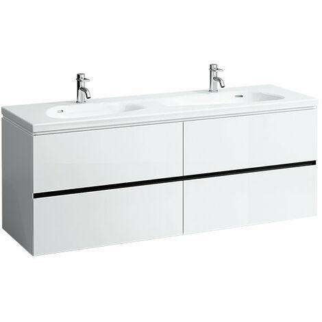 Laufen Palomba Neceser para lavabo 814809, sin zócalo, 4 cajones, 575x1585x495, color: Cerezo Vermont oscuro - H4074541802221