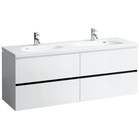 Laufen Palomba Neceser para lavabo 814809, sin zócalo, 4 cajones, 575x1585x495, color: gris piedra - H4074541802231