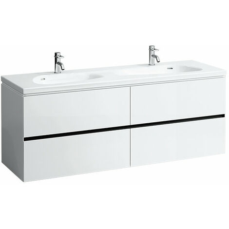 Laufen Palomba Neceser para lavabo 814809, sin zócalo, 4 cajones, 575x1585x495, color: Nieve (blanco mate) - H4074541802201
