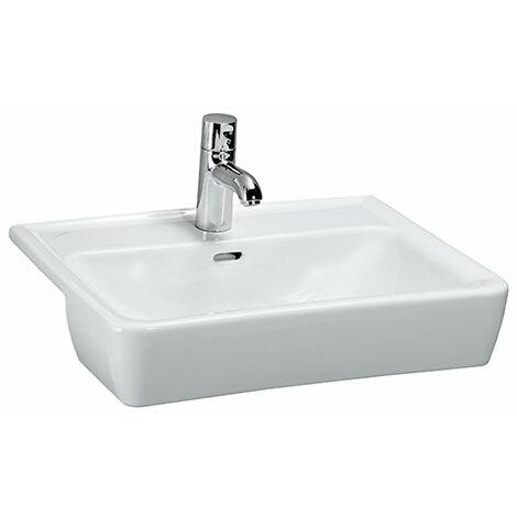 Laufen PRO A Lavabo semi-empotrado, 1 agujero para grifo, con rebosadero, 560x440, blanco, color: Blanco con LCC - H8129614001041
