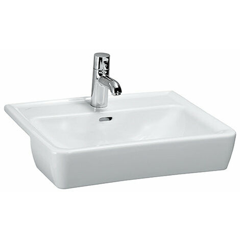 Laufen PRO A Lavabo semi-empotrado, 1 agujero para grifo, con rebosadero, 560x440, blanco, color: Blanco - H8129610001041