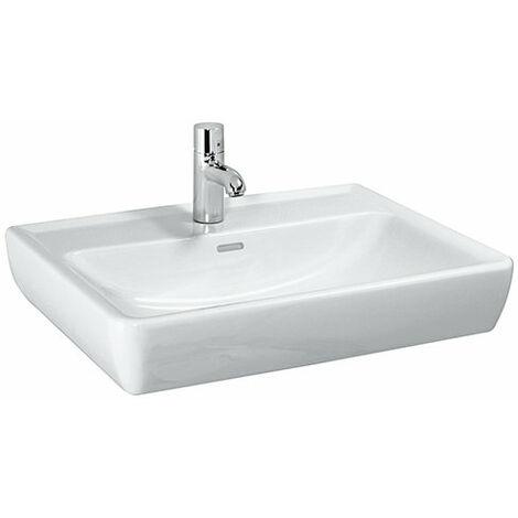 Laufen PRO A Waschtisch, 1 Hahnloch, mit Überlauf, 650x480, weiß, Farbe: Weiß - H8189530001041