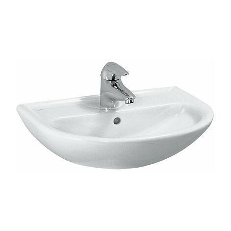Laufen PRO B CLINIC Lavabo de manos, sin grifo, sin rebosadero, 450x330, blanco, color: Blanco - H8159520001421
