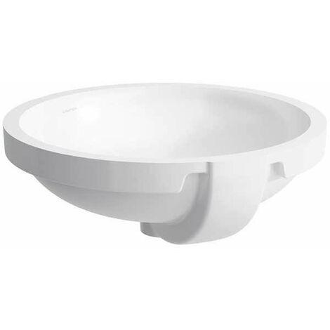 Laufen PRO B Lavabo empotrado, sin agujero para grifo, con rebosadero, 465x470, blanco, color: Blanco con LCC - H8189624001091