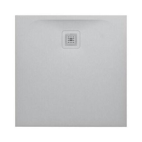 Laufen Pro Receveur de douche en gel coat Marbond, extra-plat, carré, évacuation sur le côté 100x100, Gris clair mat (H2119520770001)