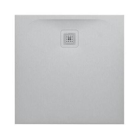 Laufen Pro Receveur de douche en gel coat Marbond, extra-plat, carré, évacuation sur le côté 80x80, Gris clair mat (H2109500770001)