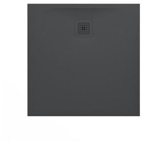 Laufen Pro Receveur de douche en gel coat Marbond, extra-plat, carré, évacuation sur le côté 90x90, Anthracite mat (H2109560780001)