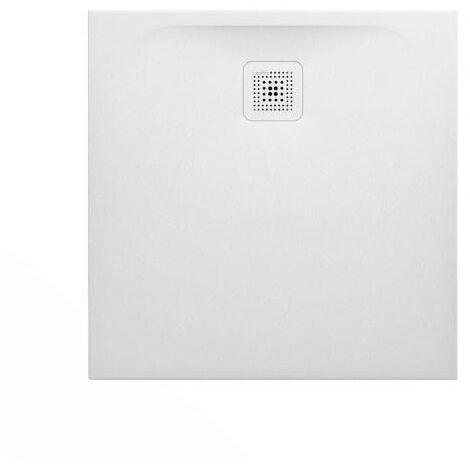 Laufen Pro Receveur de douche en gel coat Marbond, extra-plat, carré, évacuation sur le côté 90x90, Blanc mat (H2109560000001)