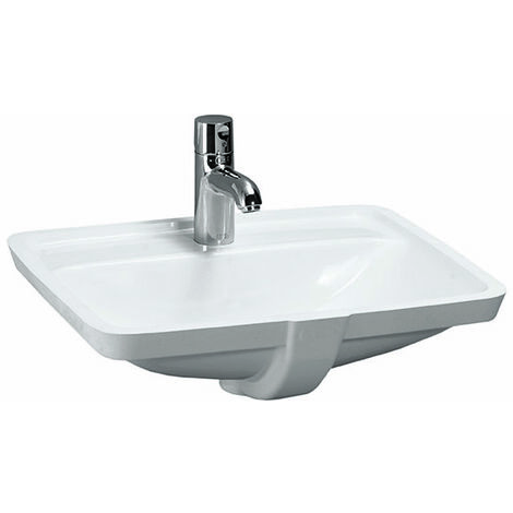 Laufen PRO S lavabo à encastrer, 1 trou de robinet, avec trop-plein, 525x400, US fermé, blanc, Coloris: Blanc - H8119660001041