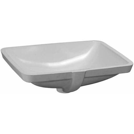 Laufen PRO S Lavabo empotrado, sin agujero para grifo, con rebosadero, 525x400, US cerrado, blanco, color: Blanco con LCC - H8119614001091